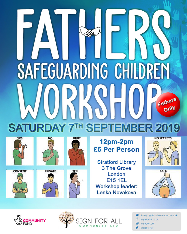 Father safeguarding poster