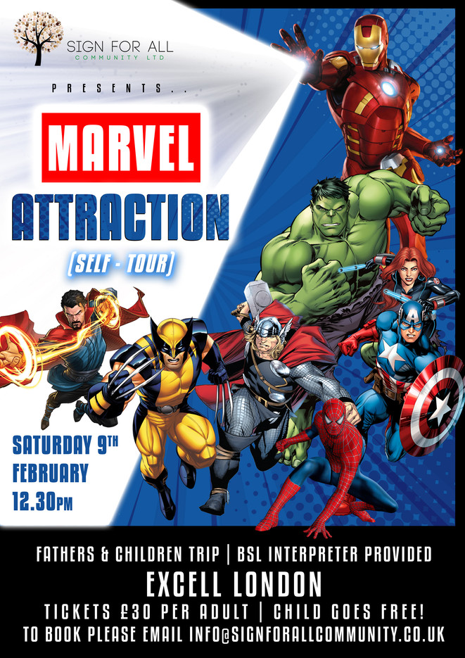 Marvel attraction poster