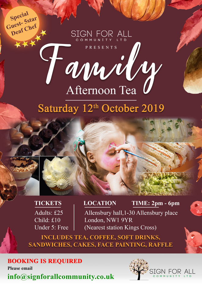 Family afternoon tea poster