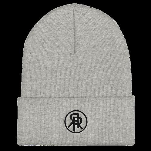 Roiretni Black logo Cuffed Beanie