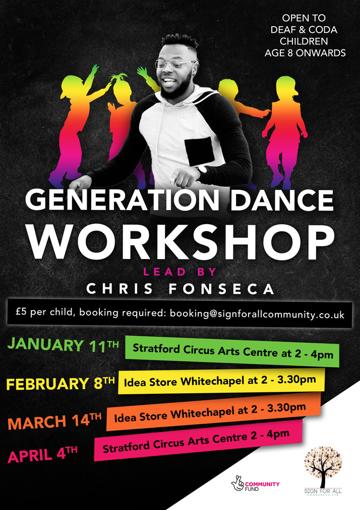 generation dance workshop sign for all c