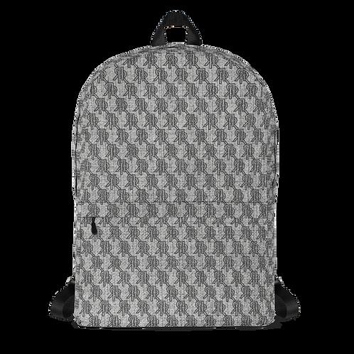 Roiretni Grey Pattern Backpack