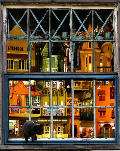 A window in Cocoa Village
