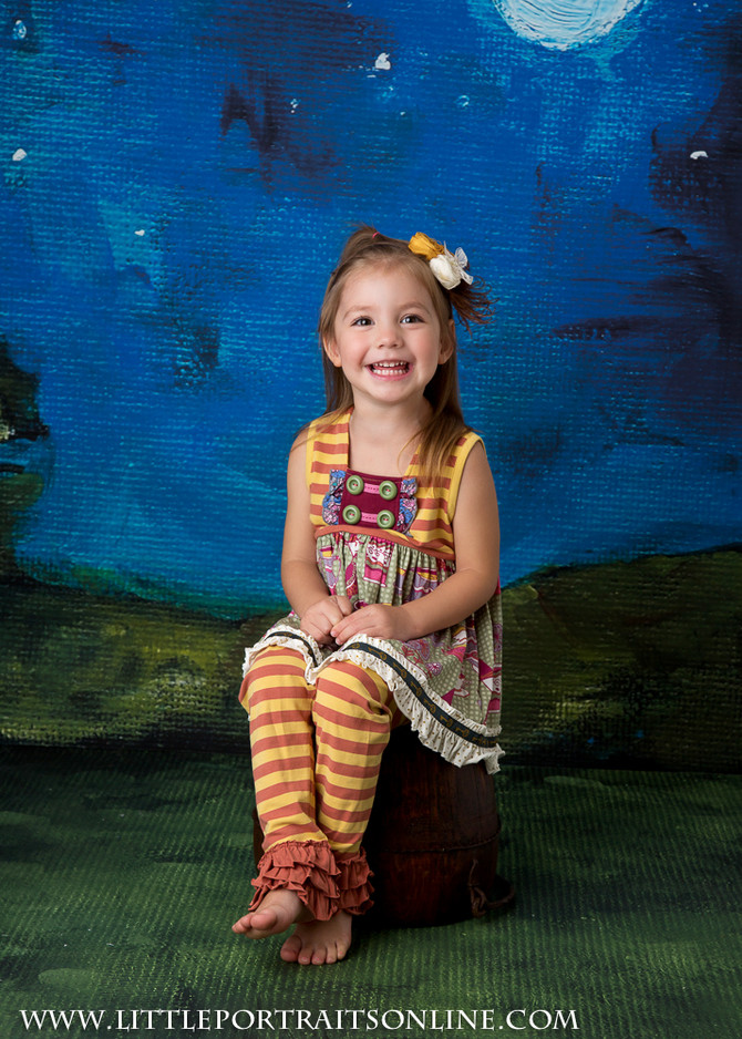 Little Portraits Lake County Birthday Photographer | She's Three