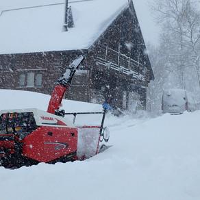 予報以上の積雪