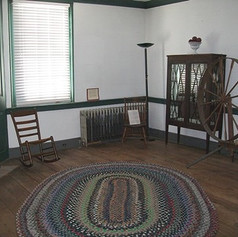 Our braided rug in the Ryan Family Room.