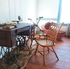 Treadle sewing machine in our Founders Bedroom.