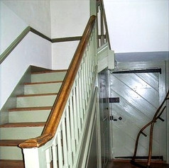 The stairwell in the front entry way.