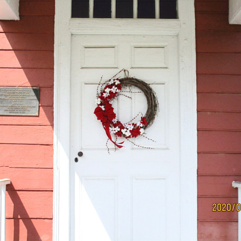 The front door to the house.