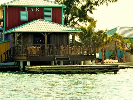 Black Pearl Bar on King Lewey's Island Resort, Placencia Belize