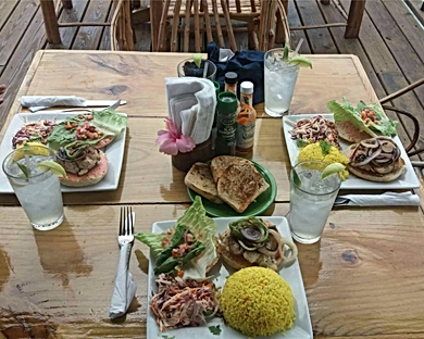 Best Chef meals served on King Lewey's Island Resort, Placencia Belize