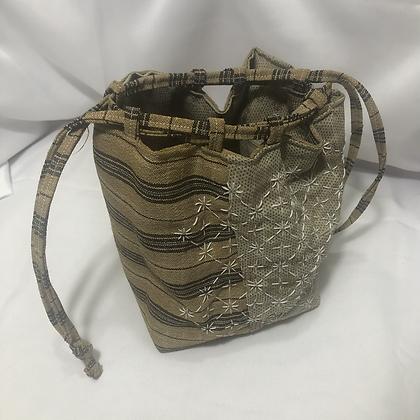 Recycled Kimono Kinchaku Bag