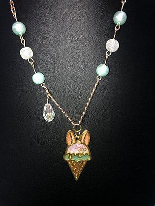 Bunny Ice Cream Necklace