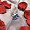 Thumbnail: Light Blue Flower Kanzashi Ring