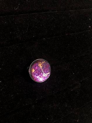 Round Gunmetal Ring