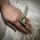 Thumbnail: Recycled Kimono Kanzashi Ring