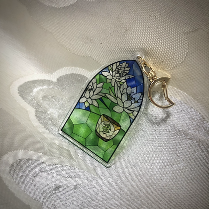 Serenity of the White Lotus Keychain