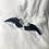 Thumbnail: Navy Angel Wing Ring Set