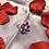 Thumbnail: Lavender Flower Kanzashi Ring