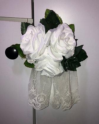 Sweet Lolita Floral Headpiece White