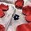 Thumbnail: Dark Blue Flower Kanzashi Ring