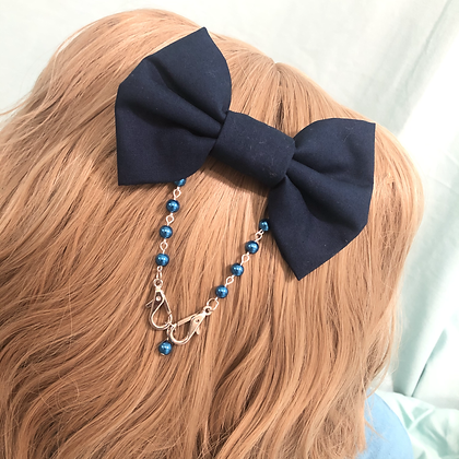 Convertible Bow Ear Saver (Navy)