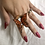Thumbnail: Framed Butterfly Ring (Orange)