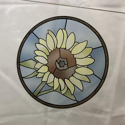 Stained Glass Sticker Sunflower