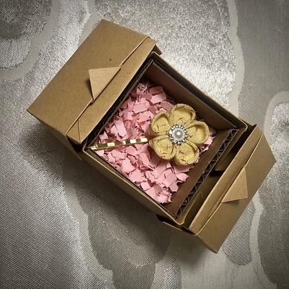 Recycled Kimono Kanzashi Hairpin
