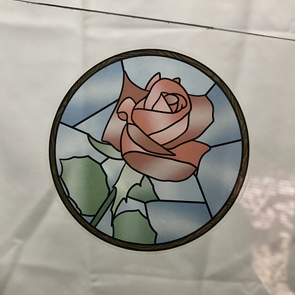 Stained Glass Sticker Rose