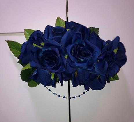 Classic Lolita Floral Headpiece Blue
