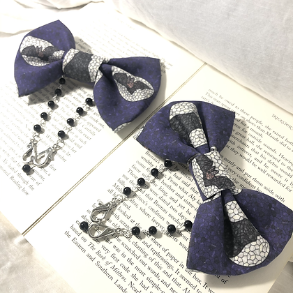 Halloween Stained Glass Bow Style Ear Saver