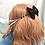 Thumbnail: Spiderweb Convertible Bow Ear Saver BlackxBlack