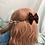 Thumbnail: Spiderweb Convertible Bow Ear Saver BlackxRed