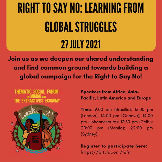 Right to Say No: Learning from Global Struggles