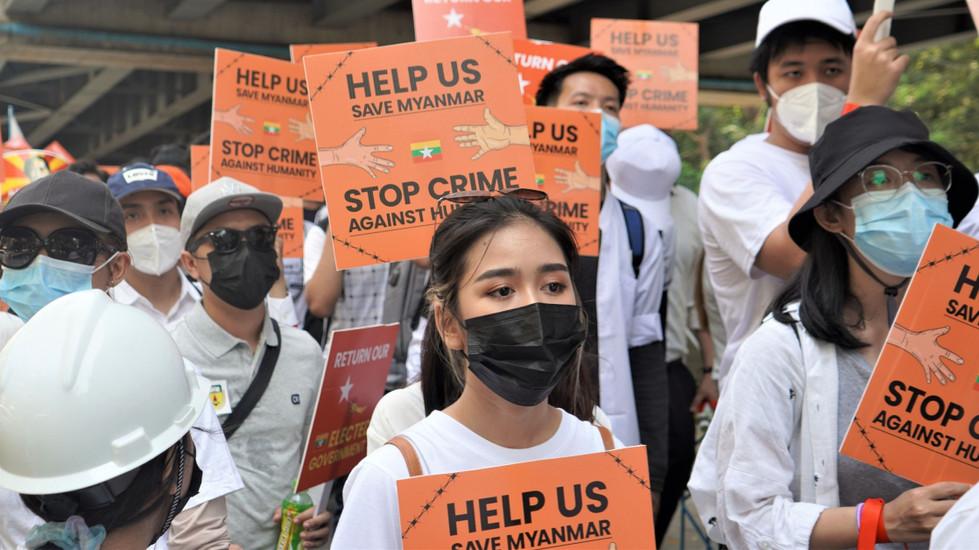 Solidaridad con Myanmar