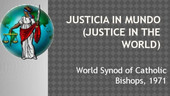 Justice in the World (African Working Group)