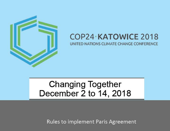 COP24: Cambiando juntos, del 2–14 de diciembre