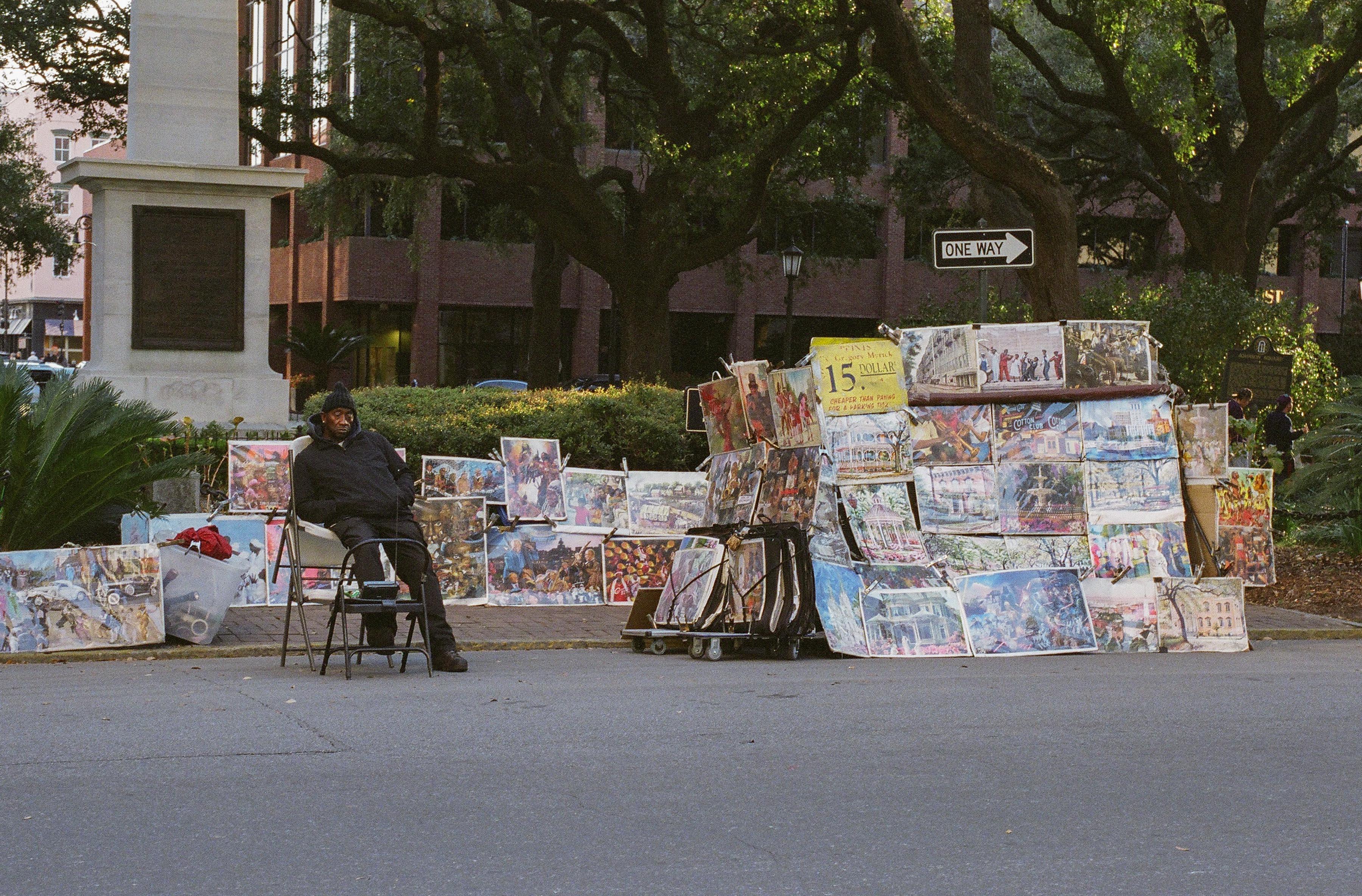 Bull street vendor
