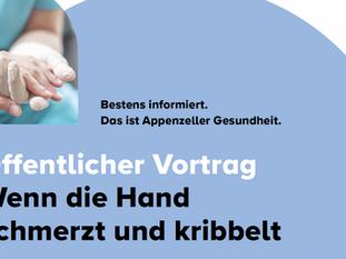 Öffentlicher Vortrag von Dr. med. Peter Larsson: Wenn die Hand schmerzt und kribbelt.