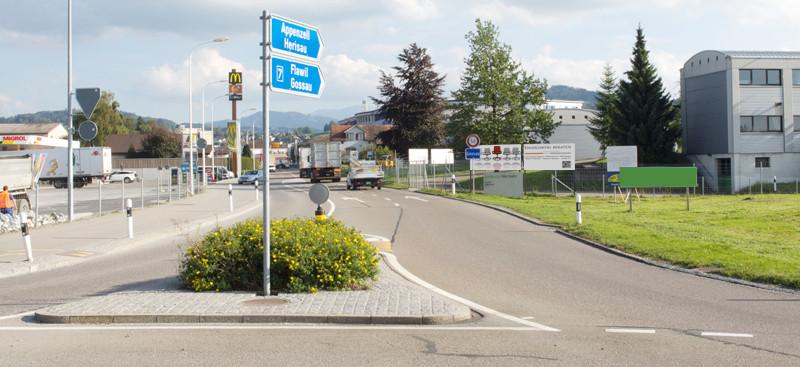 A1 - Eichen-Kreisel - Ausfahrt Richtung Gossau