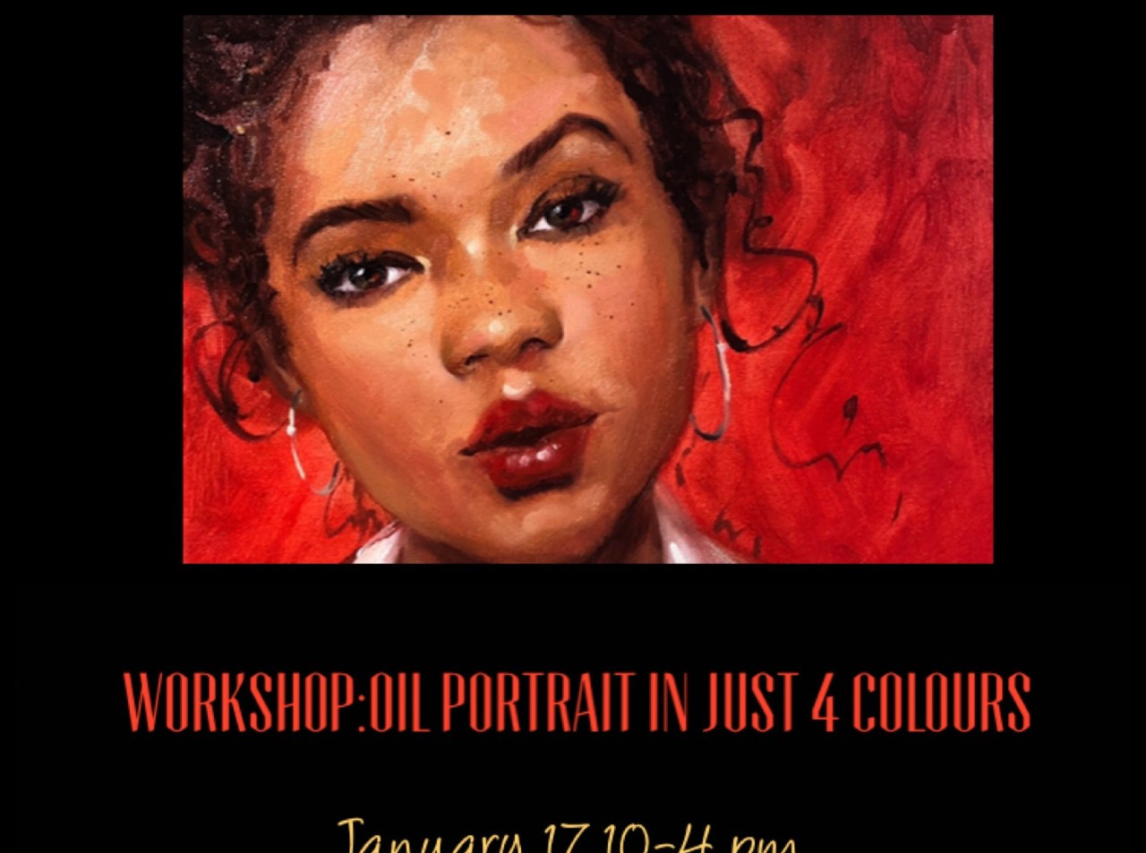 Oil Portrait Workshop in 4 Colours