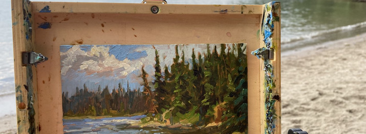 """Jarvis Lake Oil on board 6""""x 8"""" Available"""