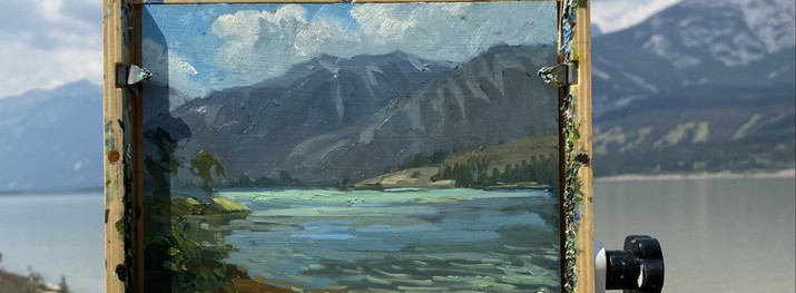 """Talbot Lake  Oil on board 6""""x 8"""" Available"""