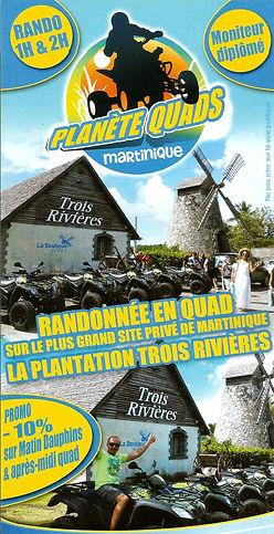 Randonnées en quad Plantation Trois-Rivières en martinique