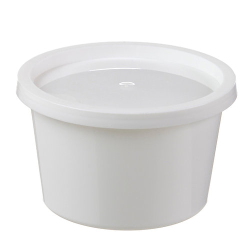 Squat 16 oz Dairy Tub - Recessed Dairy Lid