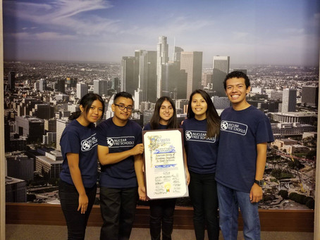 "Nuclear Free Schools speaks on behalf of the  ""Back from the Brink"" Resolution at LA City Hall"