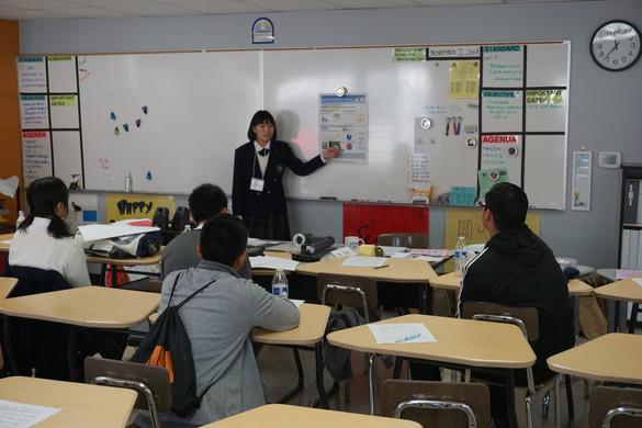 Soka student lectures her peers