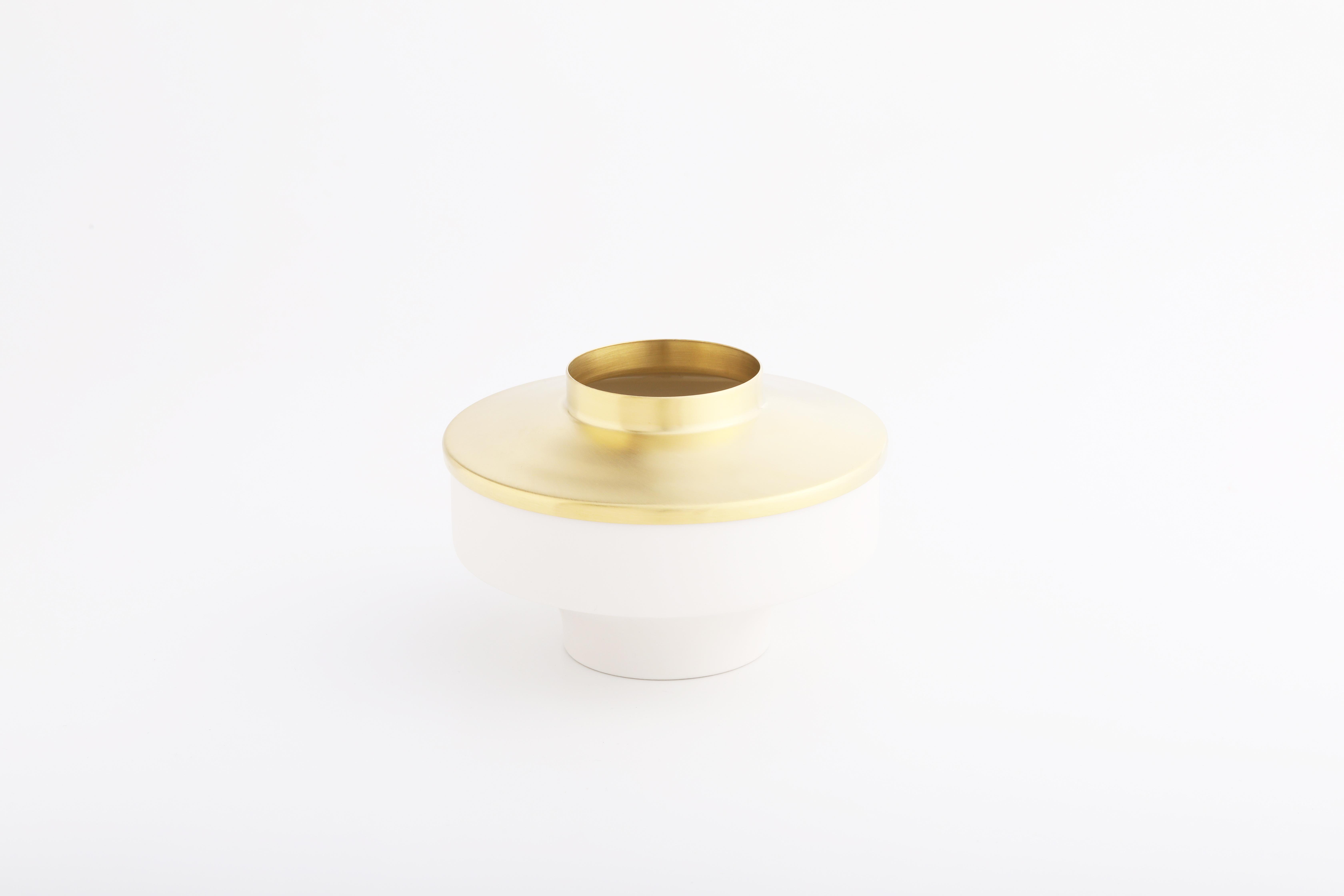 Set 6 (白瓷黃銅款 / White,Brass)