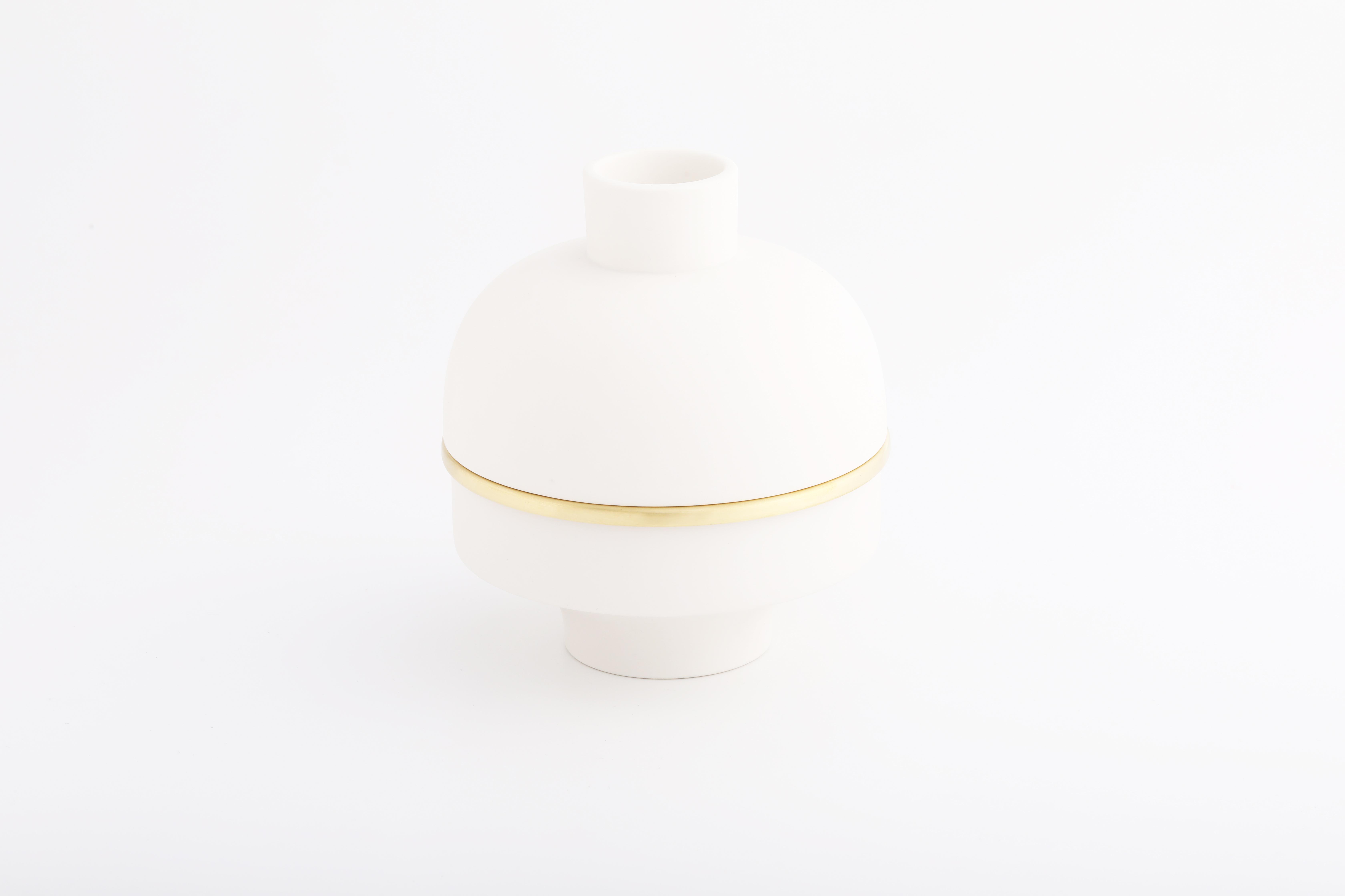 白瓷黃銅雙層款02 / White, Brass double 02